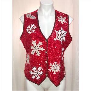 Vintage JUST FABULOUS Christmas vest